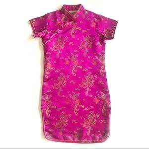 Dresses & Skirts - Magenta/Pink Qipao Cheongsam Dragon/Peacock